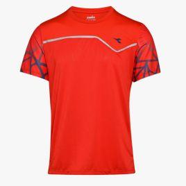 DIADORA T-SHIRT CLAY Herren Tennis Shirt Trainings Shirt Fitness Shirt 102172937