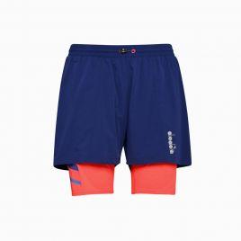 DIADORA DOUBLE LAYER BERMUDA SHORTS 20 Herren Fitness Shorts Laufhose 102175691 blau