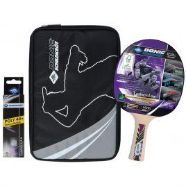 Donic Tischtennis Premium Geschenkset Legends 800 FSC im Set 1 Top Tischtennisschläger, 1 Hülle, 3 Bälle Art. 788488
