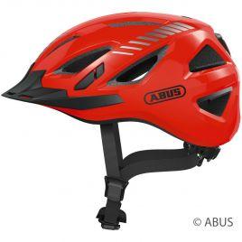 Abus Urban-I 3.0 signal orange Fahrradhelm Cityhelm mit Rücklicht 86871-72-73
