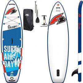 F2 Ocean SUP Set Kinder Stand Up Paddle Board mit Paddel Pumpe Tasche bis 100kg 801090