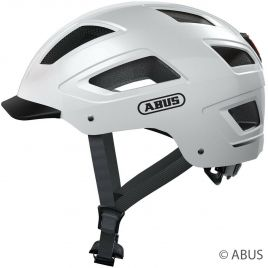 Abus Fahrradhelm Hyban 2.0 polar white City Fahrradhelm mit LED Rücklicht 86902 - 86903