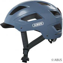 Abus Fahrradhelm Hyban 2.0 glacier blue City Fahrradhelm mit LED Rücklicht 86929 - 86930
